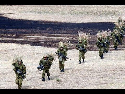 China VS Japan Army Japan self defense forces conduct island assault drill near Diaoyu Islands