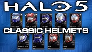 getlinkyoutube.com-Halo 5 News - Classic Helmet REQ Pack Announced!
