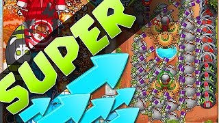 getlinkyoutube.com-Bloons TD Battles :: SUPER MONKEY LATE GAME! TECHNOLOGICAL TERROR MADNESS!