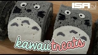 How To Make Totoro Roll Cakes - KAWAII TREATS Ep. 6