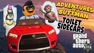 getlinkyoutube.com-Adventures of Buttman #13: Toilet Sidecars! (Annoying Orange GTA V)