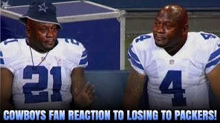 COWBOYS FANS REACTION TO LOSING TO PACKERS! WTF DEFENSE!