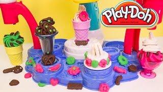 getlinkyoutube.com-Play Doh Magic Swirl Ice Cream Shoppe Hasbro Playset Toys Review Play-Doh Magic Swirl Machine