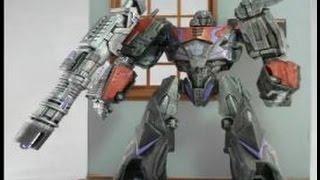 getlinkyoutube.com-A better War For Cybertron MEGATRON custom action figure by Hunter Knight Customs