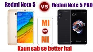 Redmi Note 5 Vs Redmi Note 5 Pro