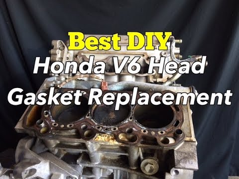 Honda V6 Head Gasket Replacement - How to Change Accord Cylinder Head - Blown Head Gasket