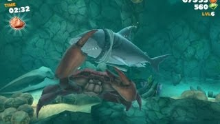 getlinkyoutube.com-Hungry Shark Evolution: Defeating Giant Crab With Megalodon Gameplay iPad/iPhone/iPod HD 1080p