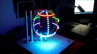 getlinkyoutube.com-RGB LED GLOBE - POV - 40 x 200