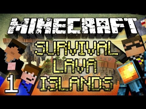 Minecraft: Survival Lava Islands - Part 1 - The Bridge!