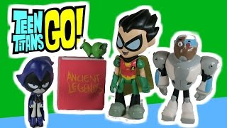 "TEEN TITANS GO! Toy Parody Video ""Poison Gummy Worms"" Shrink Robin, Cyborg and Beast Boy Teen Titans"