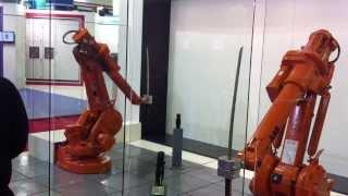getlinkyoutube.com-ABB Robots Katana Fight