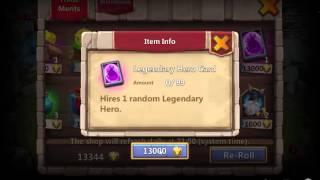 getlinkyoutube.com-castle clash- opening legendary hero card + special hero card