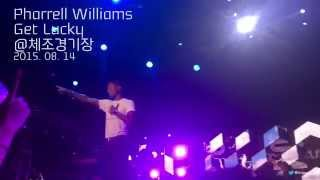 getlinkyoutube.com-Pharrell Williams - Get Lucky, 150814 @체조경기장