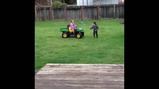getlinkyoutube.com-Kid Gets Run Over By A Toy Car