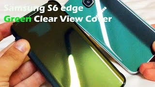 getlinkyoutube.com-Unboxing Samsung Galaxy S6 Edge Clear View Cover Case in Emerald Green