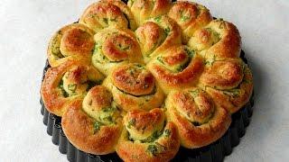 getlinkyoutube.com-How To Make GARLIC FLOWER BREAD No Knead Bread  TBEO Video #86