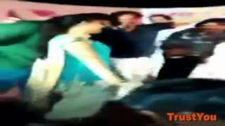 Sapna Chaudhary Hot Kiss scene in front of camera