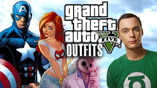 getlinkyoutube.com-GTA 5 Online - Outfits (Captain America, Red Arrow, Hotline Miami & more)