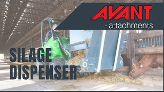 Silage Dispenser, Avant 300-700 Series attachment