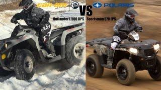 getlinkyoutube.com-Polaris Sportsman 570 vs. Can-Am Outlander L 500,  2015 King of Value 4x4 ATV Shootout