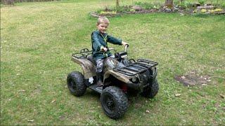 getlinkyoutube.com-YAMAHA GRIZZLY ATV 24-VOLT QUAD FOR KIDS
