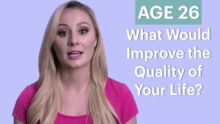 getlinkyoutube.com-70 People Ages 5-75 Answer: What Would Improve the Quality of Your Life? | Glamour
