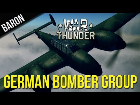 War Thunder Gameplay - German Bomber Formation (He-111)
