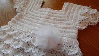 getlinkyoutube.com-Vestido Blanco Crochet parte 1 de 3