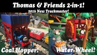 getlinkyoutube.com-Thomas & Friends Toy Train 2-in-1Destination-Trackmaster Water Wheel & Coal Hopper!