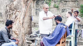 The Indian Barber Shave (Hampi, India)