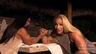 getlinkyoutube.com-Erika Guerra vs Jill Rudison Arm Wrestling