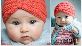 getlinkyoutube.com-KNITTING TUTORIAL - BABY TURBAN