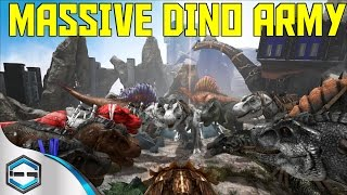 getlinkyoutube.com-Ark Survival Evolved Massive Dino Army Ep. 26