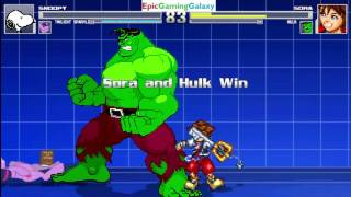 getlinkyoutube.com-Twilight Sparkle And Snoopy The Dog VS Sora And The Hulk In A MUGEN Match / Battle / Fight