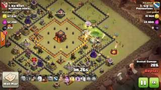 getlinkyoutube.com-3 Star a TH10 ring base with GoVaHo with QW and Miners in CC