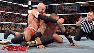 getlinkyoutube.com-Randy Orton vs. Cesaro vs. Kevin Owens: Raw, Aug. 10, 2015