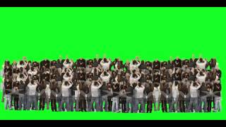 getlinkyoutube.com-crowd cheering green screen