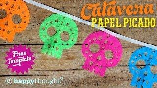 getlinkyoutube.com-Como hacer papel picado calaveras banderines por el dia de los muertos