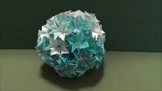 "getlinkyoutube.com-「くすだま」1折り紙""ornamental ball""origami1"