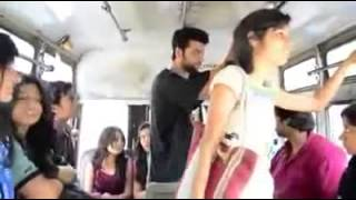 getlinkyoutube.com-Watch How Boy Takes Harassment Revenge with a Girl  in a Public Bus - YouTube.FLV