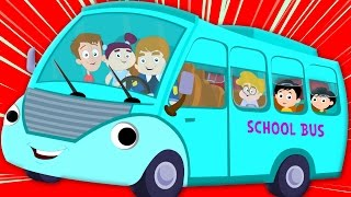 getlinkyoutube.com-wheels on the bus | nursery rhymes | kids songs | bus song