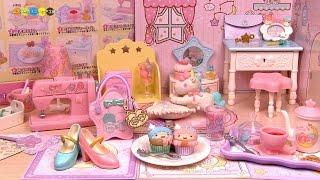 getlinkyoutube.com-RE-MENT Little Twin Stars Dreamy maiden room Box set リーメント リトルツイスターズ 夢見る乙女ルーム 全8種類