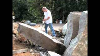 getlinkyoutube.com-Rock splitting