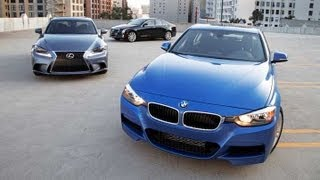 getlinkyoutube.com-2013 BMW 328i vs 2013 Cadillac ATS vs 2014 Lexus IS250 | Sports Sedan Comparison