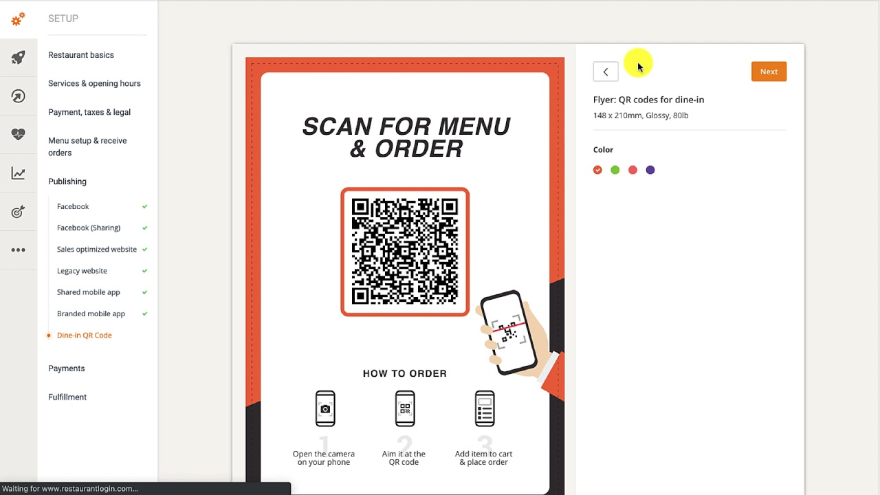 New feature: QR Code Menu for Dine-In
