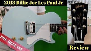 Let's Fix That Pickguard... | 2018 Gibson Billie Joe Les Paul Jr Humbucker Sonic Blue | Review  Demo