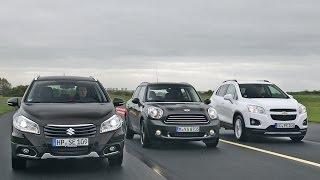 getlinkyoutube.com-Suzuki SX4 S-Cross vs. Chevrolet Trax vs. Mini Countryman