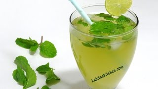 getlinkyoutube.com-Mint Lemonade Recipe-Refreshing Nimbu Pudian Sharbat-Lemonade Indian Style