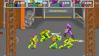 getlinkyoutube.com-Gameflix: Teenage Mutant Ninja Turtles 89 4 Player (Arcade)