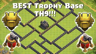 Clash Of Clans - Town Hall 9 (TH9) Best War / Trophy Base / Anti 3 Star 2 Air Sweepers/New